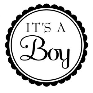 """It's a Boy"" Stamp – Three Designing Women"