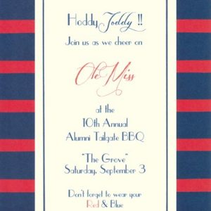 OddBalls Invitation – Stripe Boarder (Various Colors)