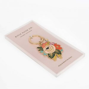 Rosa Enamel Keychain – Rifle Paper Co.