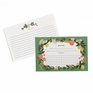 Citrus Floral Recipe Cards – Rifle Paper Co.