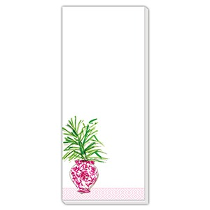 Pink Potted Plant Skinny Pad – Roseanne Beck