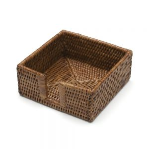 Rattan Cocktail Napkin Holder – Caspari