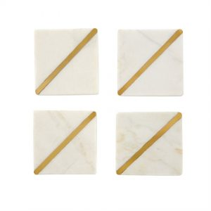 Marble Coaster Set of 4 – Mudpie