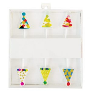 Party Hats Die-Cut Party & Birthday Candles – Caspari