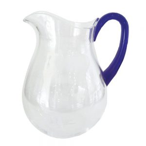 Acrylic Pitcher in Clear with Cobalt Handle – Caspari