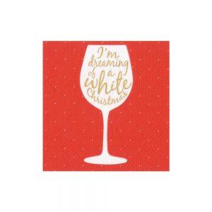 Wine Christmas Paper Cocktail Napkins – Caspari