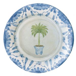 Potted Palms China Paper Dinner Plates – Caspari
