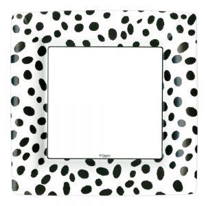 Spots Square Paper Dinner Plates – Caspari