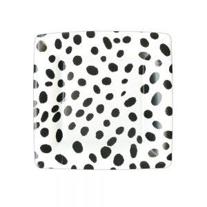 Spots Square Paper Salad & Dessert Plates  – Caspari