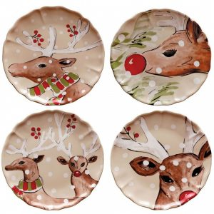 Casafina™ | Deer Friends | Dinner Plates (4) – Linen