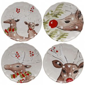 Casafina™ | Deer Friends | Dinner Plates (4) – White