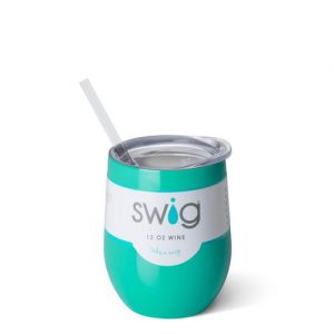 Swig – 12 oz. Stemless Wine Cup – Turquoise