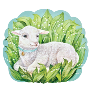 Hester & Cook Die-Cut Little Lamb Placemat