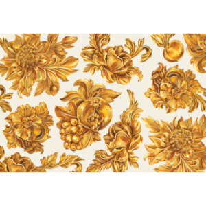 Hester & Cook Gold Flora Placemat