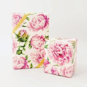 Hester & Cook Peonies in Bloom Wrapping Paper