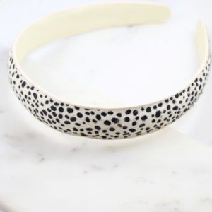 Animal Print Headband – Black-White