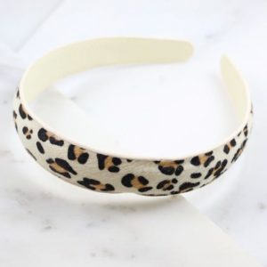 Animal Print Headband – Ivory Leopard