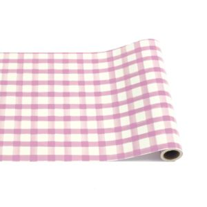 Hester & Cook Lilac Painted Check Runner