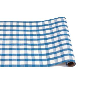 Hester & Cook Blue Painted Check Runner