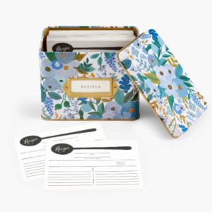 Garden Party Blue Tin Recipe Box – Rifle Paper Co.