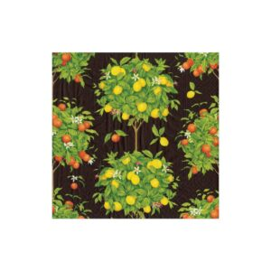 Citrus Topiaries Paper Cocktail Napkins in Black – Caspari