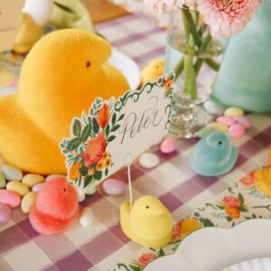 Flocked PEEPS® Place Card Holder