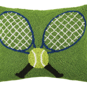 Crossed Tennis Racquets Pillow