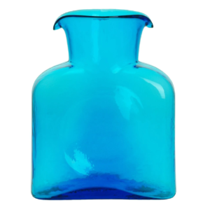 Blenko Glass Water Bottle – Turquoise