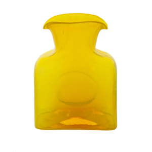 Blenko Mini Glass Water Bottle – Citrine