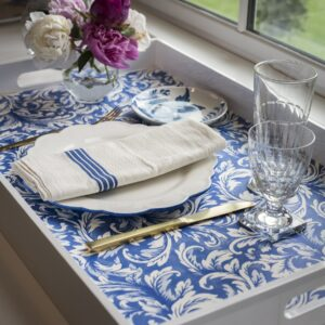 Hester & Cook China Blue Acanthus Placemat