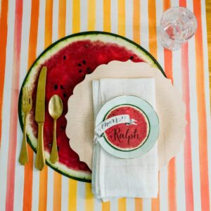 Hester & Cook Citrus Stripe Table Runner