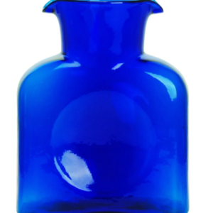 Blenko Glass Water Bottle – Cobalt Blue