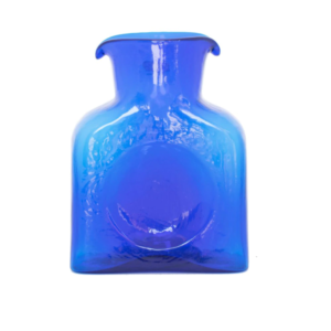 Blenko Mini Glass Water Bottle – Cobalt Blue