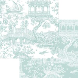 Caspari Chinoiserie Reversible Wrapping Paper